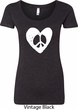 Ladies Peace Tee Hippie Heart Peace Scoop Neck