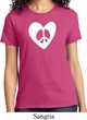 Ladies Peace Tee Hippie Heart Peace T-shirt