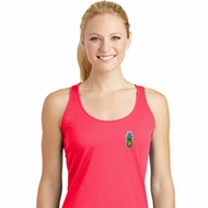 Ladies Pineapple Patch Pocket Print Dry Wicking Racerback