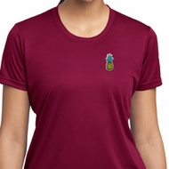 Ladies Pineapple Patch Pocket Print Moisture Wicking T-shirt