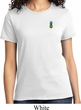 Ladies Pineapple Patch Pocket Print T-shirt
