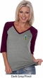 Ladies Pineapple Patch Pocket Print V-neck Raglan