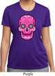 Ladies Pink Sugar Skull Dry Wicking T-shirt