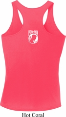 Ladies Pow Mia Back Print Dry Wicking Racerback