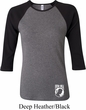 Ladies Pow Mia Bottom Print Raglan Shirt