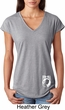 Ladies Pow Mia Bottom Print Tri Blend V-neck