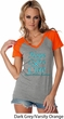 Ladies Prostate Cancer Hope Love Cure Contrast V-neck