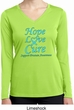Ladies Prostate Cancer Hope Love Cure Dry Wicking Long Sleeve