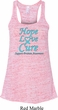 Ladies Prostate Cancer Hope Love Cure Flowy Racerback