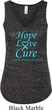Ladies Prostate Cancer Hope Love Cure Flowy V-neck Tank Top