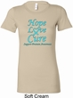 Ladies Prostate Cancer Hope Love Cure Longer Length Shirt
