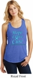 Ladies Prostate Cancer Hope Love Cure Racerback