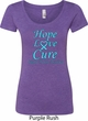 Ladies Prostate Cancer Hope Love Cure Scoop Neck