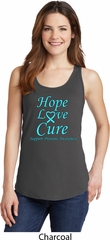 Ladies Prostate Cancer Hope Love Cure Tank Top