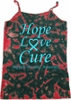 Ladies Prostate Cancer Hope Love Cure Tie Dye Camisole Tank Top