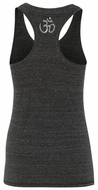 Ladies Racerback Yoga Tank Top - Aum Neck Print