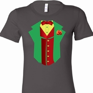 Ladies Rasta Vest Tuxedo Longer Length Shirt