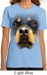 Ladies Rottweiler Shirt Big Rottweiler Face Organic T-Shirt
