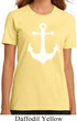 Ladies Sailing Shirt White Anchor Organic Tee T-Shirt