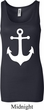 Ladies Sailing Tanktop White Anchor Longer Length Tank