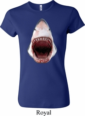 Ladies Shark Shirt 3D Shark Crewneck Tee T-Shirt
