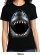 Ladies Shark Shirt Big Shark Face Tee T-Shirt