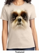 Ladies Shih Tzu Shirt Big Shih Tzu Face Tee T-Shirt