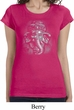 Ladies Shirt 3D Ganesha Darks Longer Length Tee T-Shirt