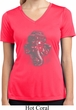 Ladies Shirt 3D Ganesha Lights Moisture Wicking V-neck Tee T-Shirt