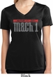 Ladies Shirt 50 Years Mach 1 Moisture Wicking V-neck Tee