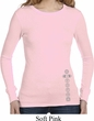 Ladies Shirt 7 Chakras Bottom Print Long Sleeve Thermal Tee