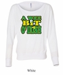 Ladies Shirt A Wee Bit Irish Shamrock Off Shoulder Tee T-Shirt