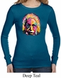 Ladies Shirt Albert Einstein Long Sleeve Thermal Tee T-Shirt
