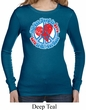 Ladies Shirt All You Need is Love Long Sleeve Thermal Tee T-Shirt