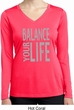Ladies Shirt Balance Your Life Dry Wicking Long Sleeve Tee T-Shirt