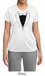 Ladies Shirt Basic Black Tuxedo Moisture Wicking Tee T-Shirt