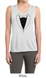 Ladies Shirt Basic Black Tuxedo Sleeveless Moisture Wicking Tee