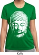 Ladies Shirt Big Buddha Head Moisture Wicking Tee T-Shirt