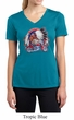 Ladies Shirt Big Chief Indian Motorcycle Moisture Wicking V-neck Tee