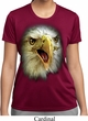 Ladies Shirt Big Eagle Face Moisture Wicking Tee T-Shirt