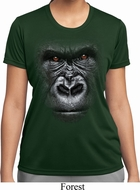 Ladies Shirt Big Gorilla Face Moisture Wicking Tee T-Shirt