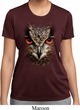 Ladies Shirt Big Owl Face Moisture Wicking Tee T-Shirt