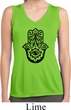 Ladies Shirt Black Hamsa Sleeveless Moisture Wicking Tee
