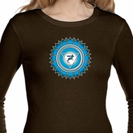 Ladies Shirt Blue Vishuddha Long Sleeve Thermal Tee