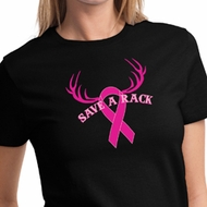 Ladies Shirt Breast Cancer Awareness Save a Rack Tee T-Shirt