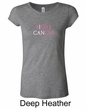 Ladies Shirt Breast Cancer Fight Cancer Longer Length Tee T-Shirt