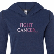 Ladies Shirt Breast Cancer Fight Cancer Tri Blend Hoodie Tee T-Shirt