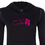Ladies Shirt Breast Cancer Walkin For a Cure Tri Blend Hoodie Tee