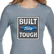 Ladies Shirt Built Ford Tough Long Sleeve Thermal Tee T-Shirt