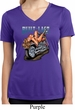 Ladies Shirt Built To Last Moisture Wicking V-neck Tee